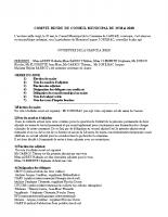 COMPTE RENDU CM DU 25 Mai 2020