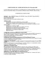 COMPTE RENDU CM DU 25 Novembre 2019